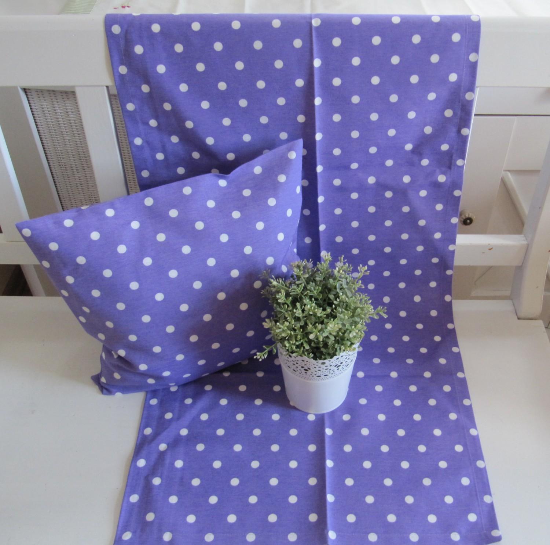 kissenh lle 38x38 oder tischl ufer 50x150 punkte in attraktiven wohnfarben ebay. Black Bedroom Furniture Sets. Home Design Ideas