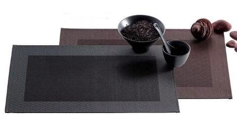 tischset anthrazit grau platzset abwaschbar ebay. Black Bedroom Furniture Sets. Home Design Ideas