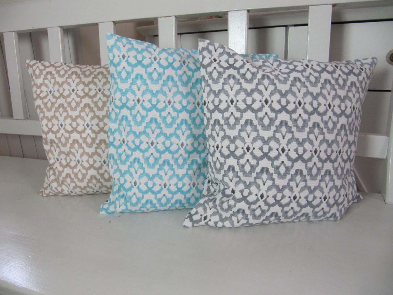 kissenh lle 40x40 ethnostyle beige grau t rkis. Black Bedroom Furniture Sets. Home Design Ideas