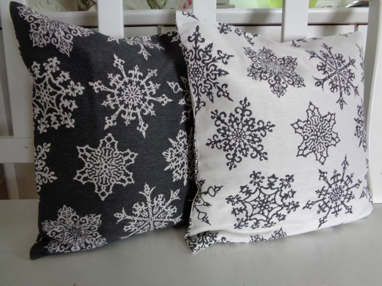 Dekokissen weihnachten flocken grau sekt oder sekt grau - Dekokissen weihnachten ...