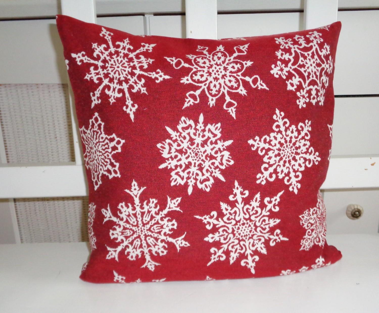 Dekokissen weihnachten flocken rot sekt oder sekt rot - Dekokissen weihnachten ...