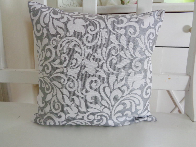dekokissen ornamente glanz hellgrau 40x40 oder 50x50. Black Bedroom Furniture Sets. Home Design Ideas