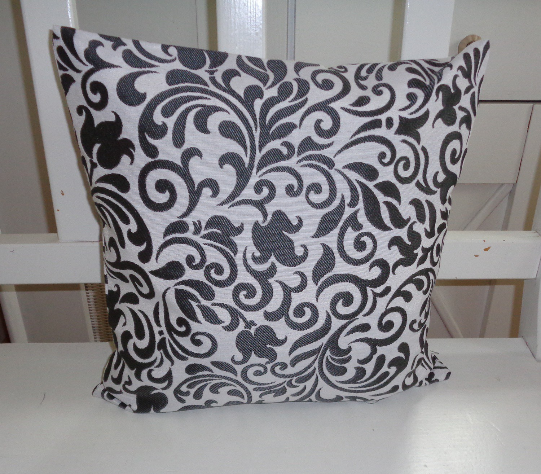dekokissen ornamente glanz dunkelgrau 40x40 oder 50x50. Black Bedroom Furniture Sets. Home Design Ideas