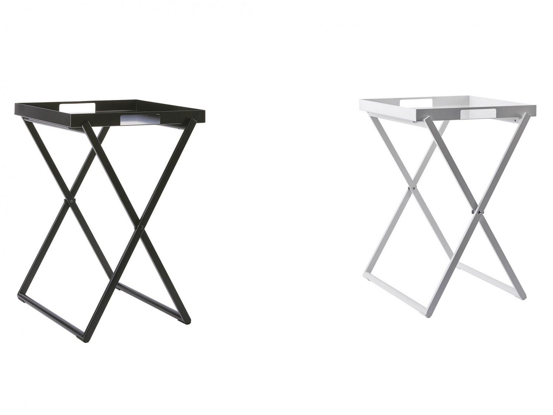 serviertisch tabletttisch klappbar schwarz oder weiss. Black Bedroom Furniture Sets. Home Design Ideas
