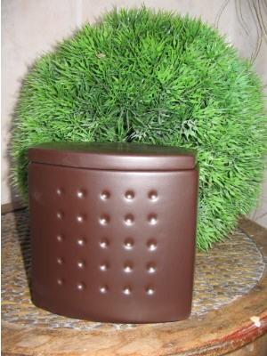 Kosmetikdose Mandalay Braun Cappucino Keramik