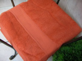 Duschtuch  Batex Cotton Tri  65 x 125 Terracotta Orange