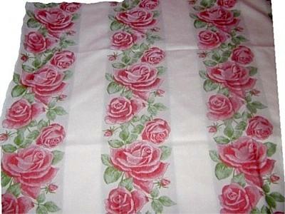 Tischdecke Rosen Landhaus Romantik 90x90 Rot