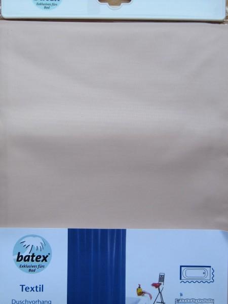 Duschvorhang Beige Pur textil waschbar 3 Größen