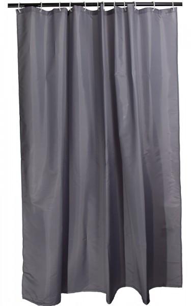 Duschvorhang Grau Textil 180 x 200 Arinosa