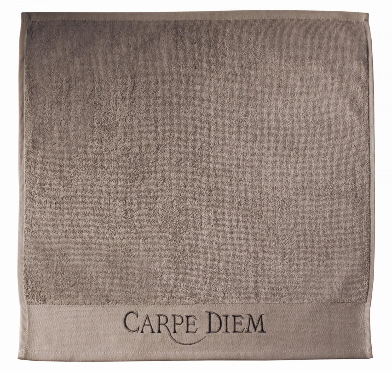 Handtuch Grau Beige Carpe Diem 50×50 Aquanova