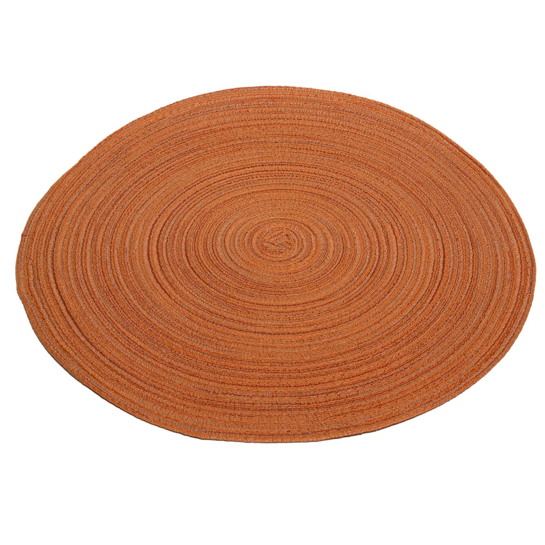 tischset orange rund 38 cm geflochten. Black Bedroom Furniture Sets. Home Design Ideas