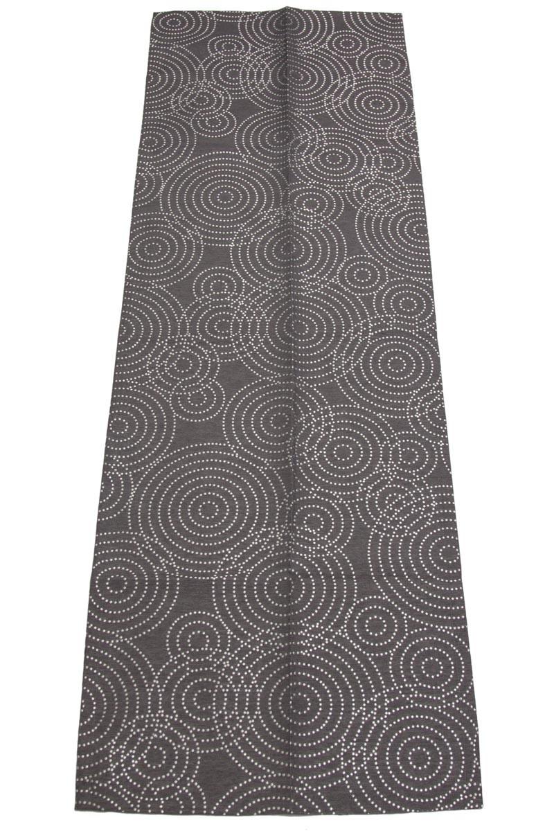 Tischlaufer anthrazit grau silber kreise 50x150 weihnachten for Küchenl ufer grau