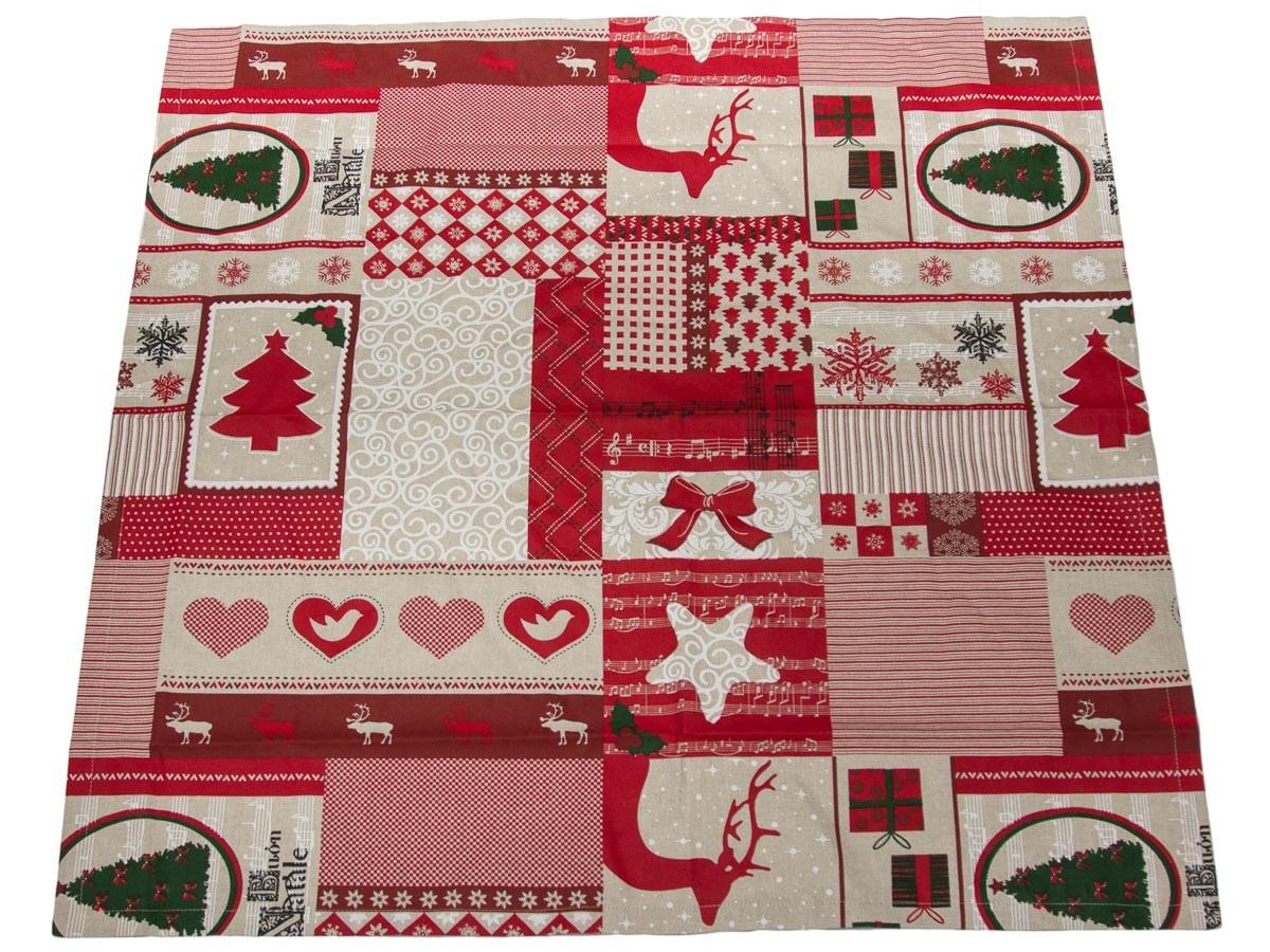 tischdecke weihnachten rot 85x85 weihnachtsmelodie. Black Bedroom Furniture Sets. Home Design Ideas
