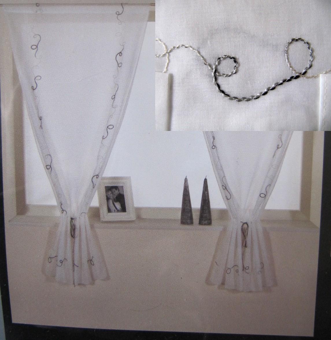 2 seitenschals stangendurchzug h he 140 cm breite 60. Black Bedroom Furniture Sets. Home Design Ideas