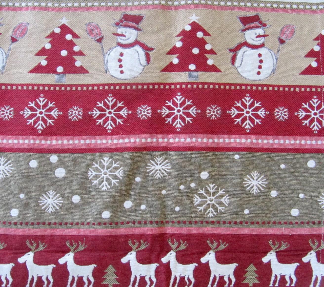 tischl ufer weihnachten rot natur mehrfarbig 50x150. Black Bedroom Furniture Sets. Home Design Ideas