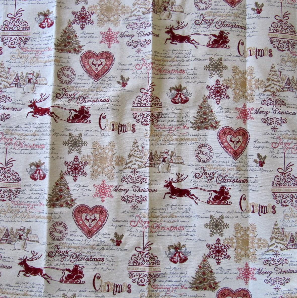 tischdecke weihnachten natur rot weihnachtspoesie 85x85. Black Bedroom Furniture Sets. Home Design Ideas