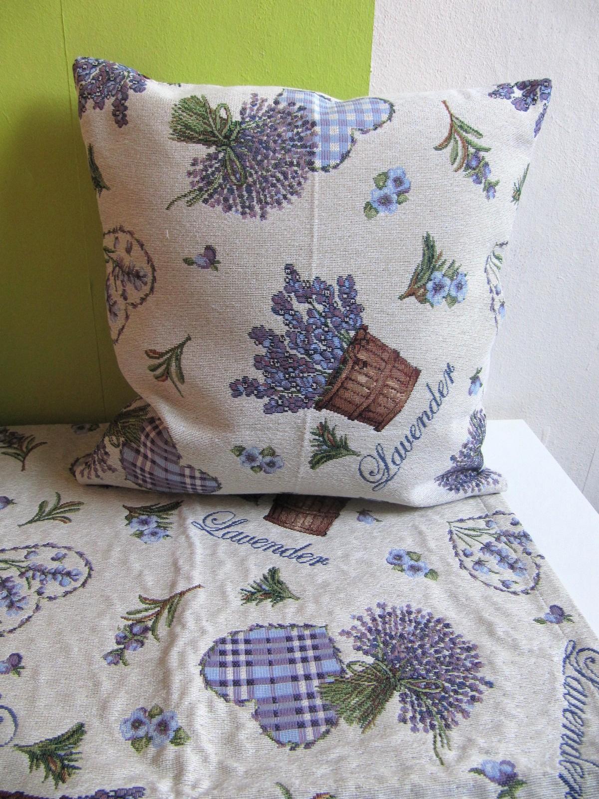 tischdecke lavendel herz 85x85. Black Bedroom Furniture Sets. Home Design Ideas